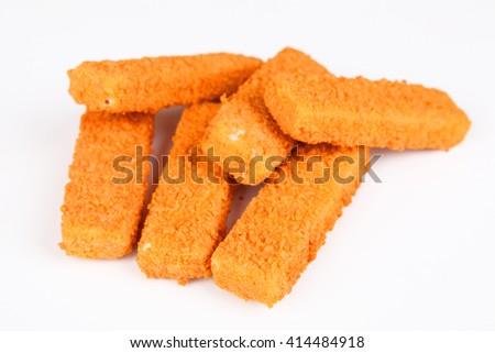 frozen fish fingers - stock photo