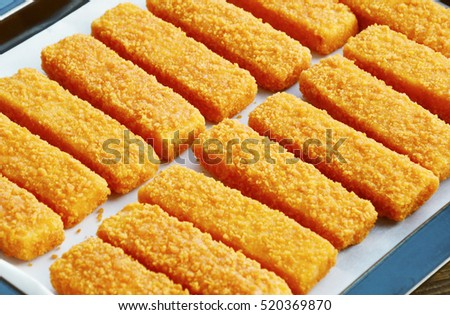 Fish stick stock images royalty free images vectors for Frozen fish sticks