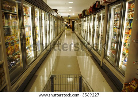 Frozen Food Section - stock photo