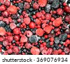 frozen fruit / berries, background - stock photo