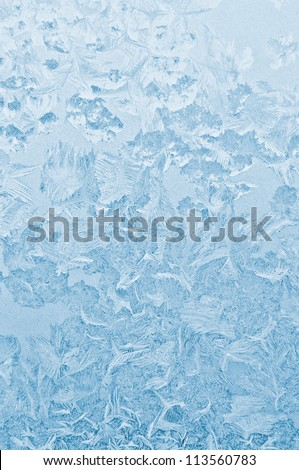 Frozen glass abstract winter background