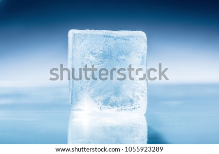 Frozen Ice Cube Stock Photo Safe To Use 1055923289
