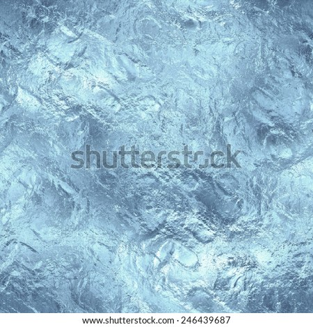 Frozen Ice Seamless and Tileable Background Texture.