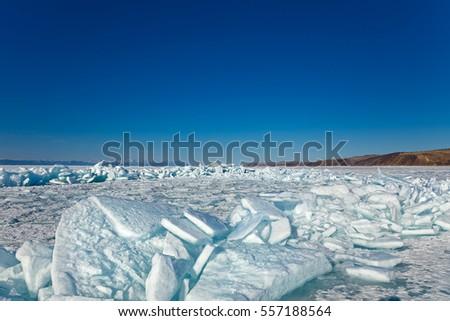 Lake Baikal Frozen Bubbles