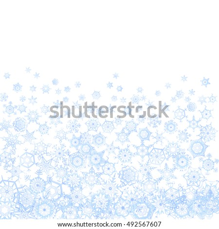 Frozen pattern with snowflakes on white background