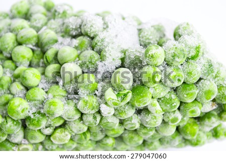 Frozen peas - stock photo