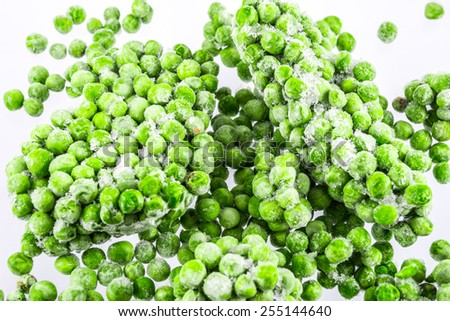 Frozen peas background - stock photo