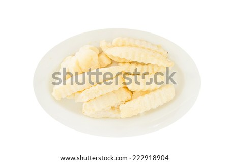 Frozen potato  in isolate on white. - stock photo