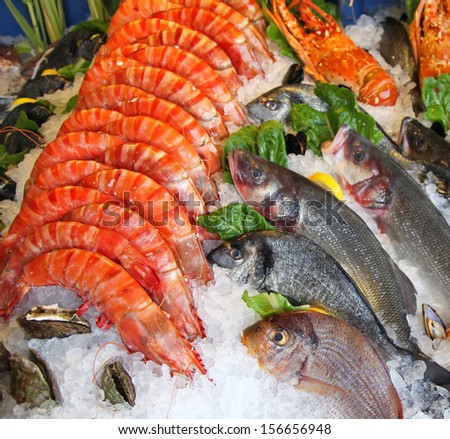 Fish shop stock photos images pictures shutterstock for Best frozen fish to buy at grocery store