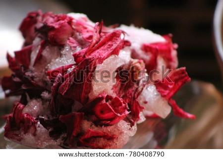 Frozen Sorrel Petals
