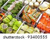 frozen stuffed food in assortment - stock photo