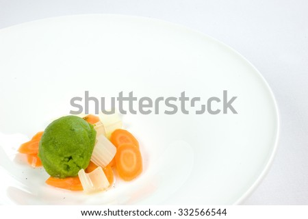 frozen vegetarian - stock photo