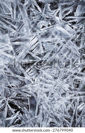 Frozen water creates a natural crystal pattern look - stock photo