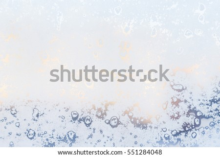 frozen window abstract background
