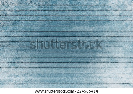 Frozen wooden background in snow empty for advertisement - stock photo