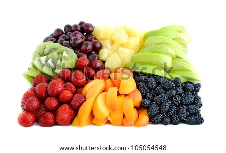 Fruit and berry mix - stock photo
