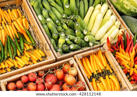 Fruit and vegetable promotion : Chilli ,Tomato , Cucumber , Nut