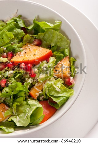 Fruit and vegetable salad - stock photo