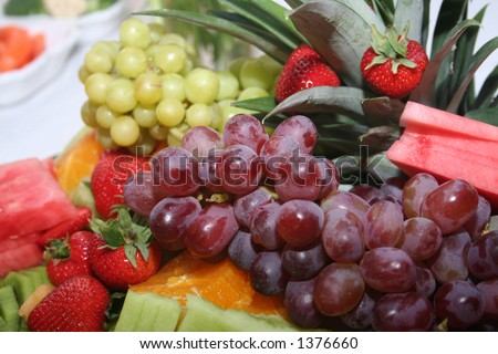 Fruit appetizer - stock photo