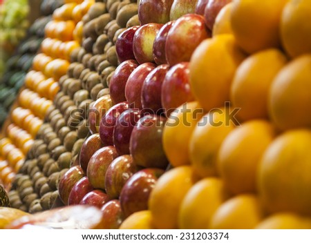 Fruit at market - stock photo