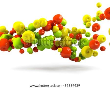 Fruit background - stock photo