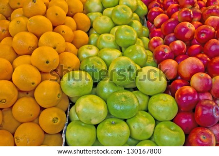 Fruit background at a local market