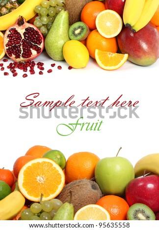 Fruit background text - stock photo