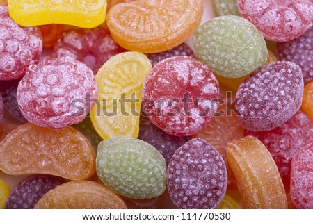 fruit candy - stock photo