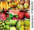 Fruit collage - stock photo