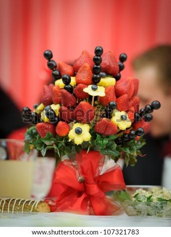 Fruit Decoration Wedding Reception Stock Photo (Download Now ...