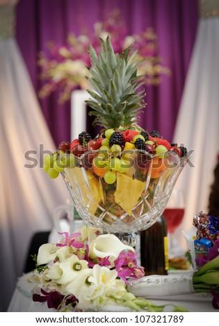Fruit Decoration Wedding Reception Stock Photo (Royalty Free ...