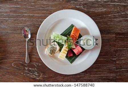 Fruit Dessert - stock photo