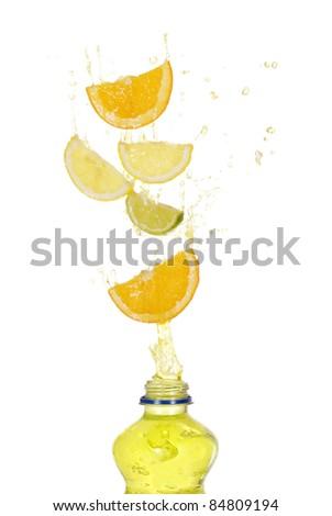 fruit drink splash concept - stock photo