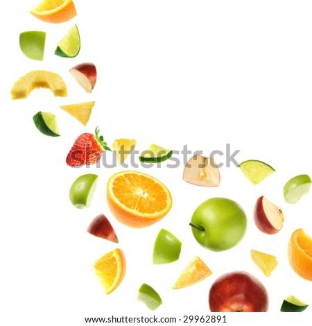 Fruit explosion - stock photo
