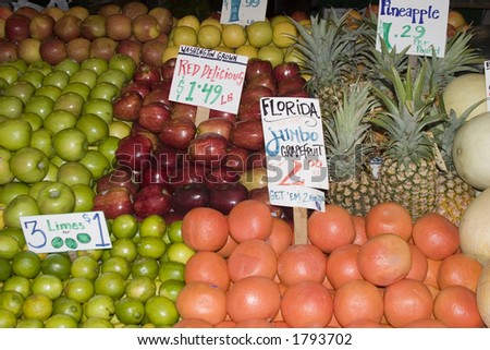 Fruit for sale at the Market