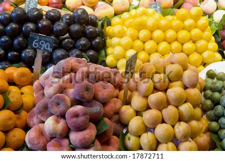 Fruit for sale on a market stall