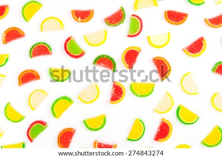 fruit jellies, oranges, lemons, limes - stock photo