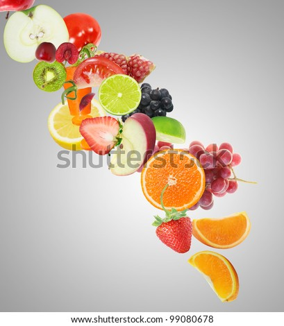 fruit juice - stock photo