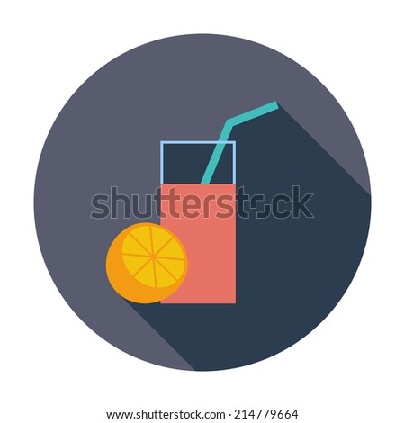 Fruit juice. Single flat color icon.  - stock photo