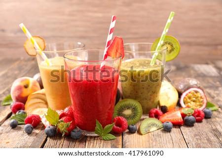 fruit juice,smoothie - stock photo