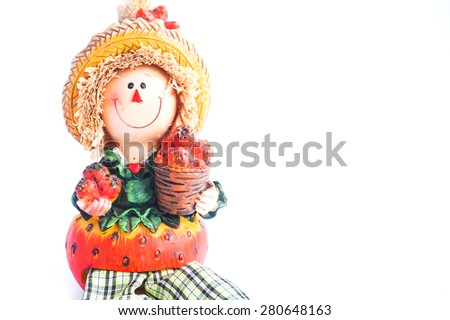 Fruit kid Doll on a white background