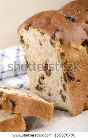 fruit loaf with sultanas and mixed peel