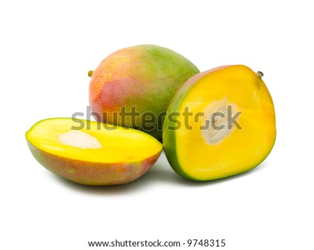 Fruit mango, isolated on white background