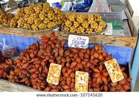 fruit market in the village - stock photo
