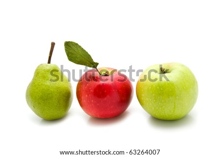 fruit on a white background