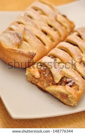 Fruit pie, strudel - stock photo