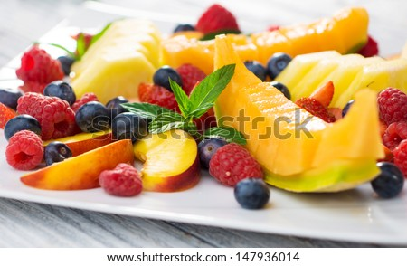 Fruit plate   - stock photo