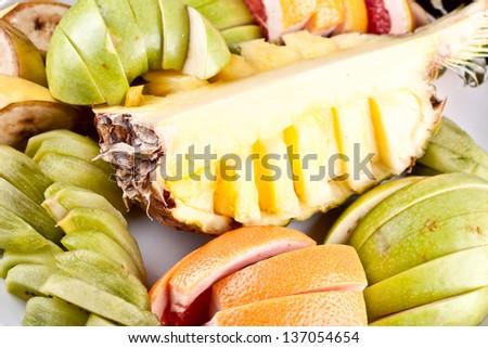 Fruit platter - stock photo