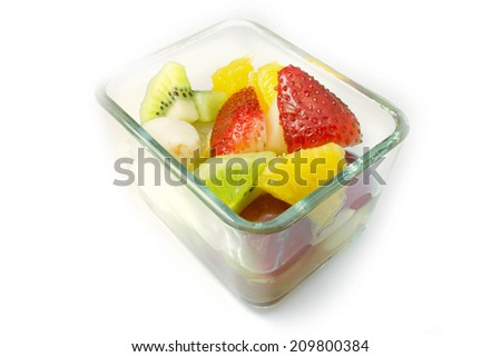 Fruit Salad in Bowl, Healthy Lifestyle