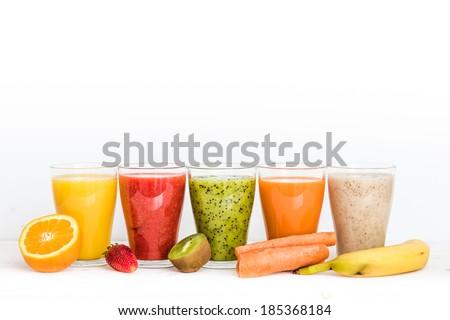 Fruit smoothies - stock photo